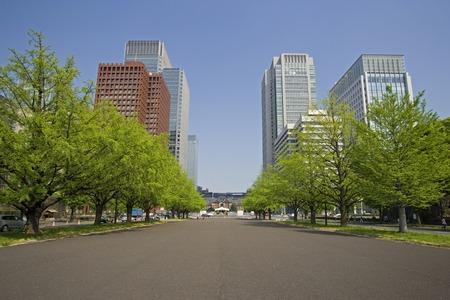 Tokyo Bahnhofstrasse 版權商用圖片