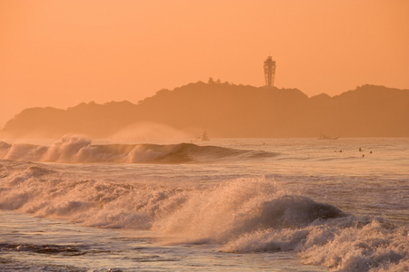 seas: Rough seas and Enoshima