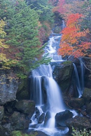 water flow: Crown of autumn-waterfall