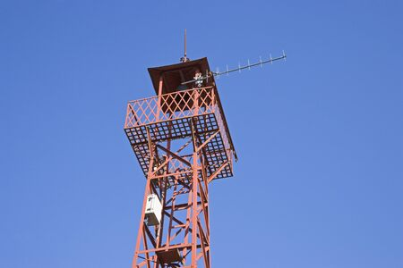 lookout: Fire lookout tower Stock Photo