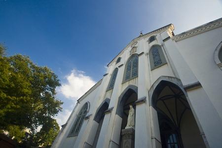 오우 라 카톨릭 교회 스톡 콘텐츠