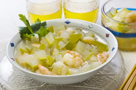 cold soup: Cold soup of wax gourd