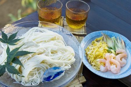 origin of man: Somen noodle