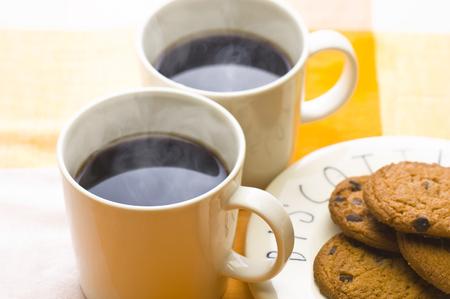 クッキーとコーヒー 写真素材