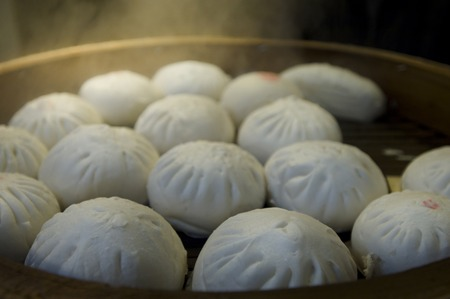 steamed: Steamed meat buns