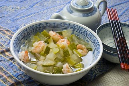 冬瓜の中華風スープ 写真素材