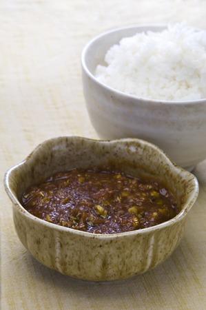 butterbur: Butterbur miso and rice