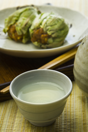 butterbur: Butterbur miso and sake Stock Photo