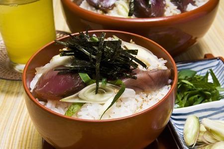 knead: Hand knead sushi triple Stock Photo