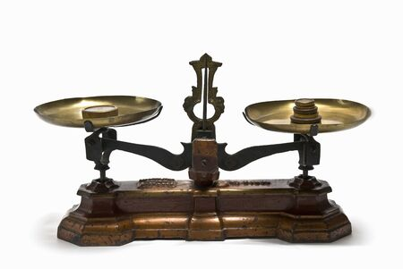 antique weight scale: Libra scale Stock Photo