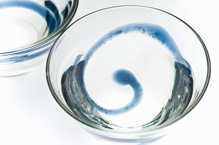 distilled alcohol: Sake glass Stock Photo