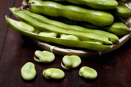 leguminosae: Broad bean Stock Photo