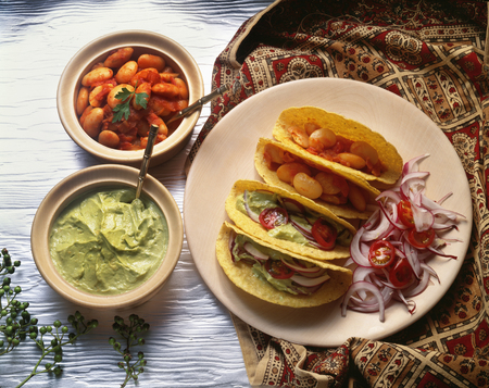 pinto bean: Tacos Mexico