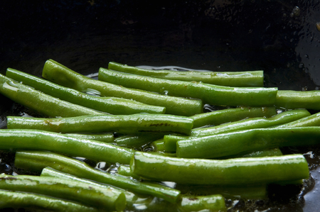 bean family: Sauteed green beans