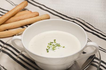 cold soup: Potato of cold soup Stock Photo