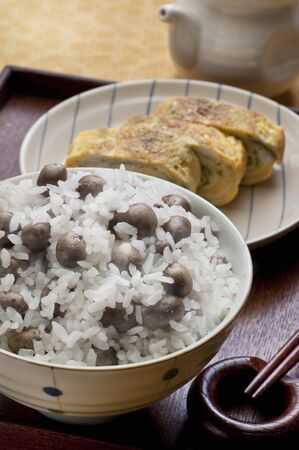 fried eggs: Propagule rice and fried eggs