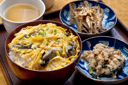 autumn food: Kakigohan Stock Photo