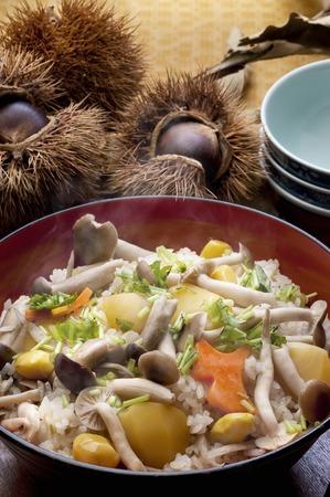 Gingko and chestnut rice 版權商用圖片