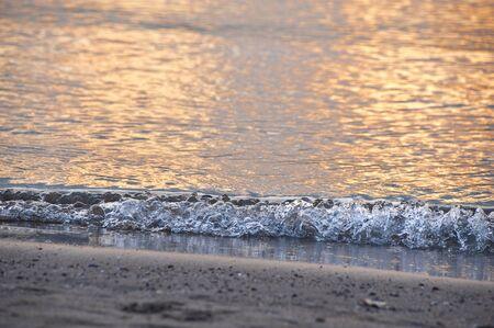 waters edge: Waters edge sunset