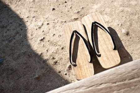 clogs: Wooden clogs. Stock Photo