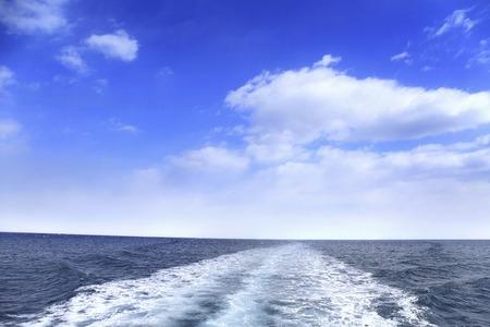 horizontal line: Wake and the horizontal line