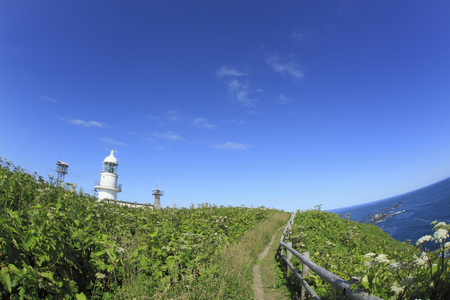 selections: Cape Erimo lighthouse Stock Photo
