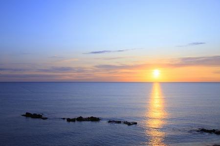 horizontal line: Horizontal line with Sunrise