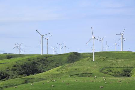 windpower: Soyakyuryo and wind power generating windmill