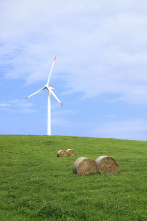 windpower: Wind power for the windmill and hay roll