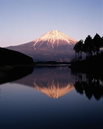 upside: Upside down Fuji evening from Lake Tanuki