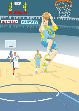 jump shot: Jump shot Stock Photo