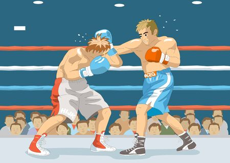 punch: Straight punch Stock Photo