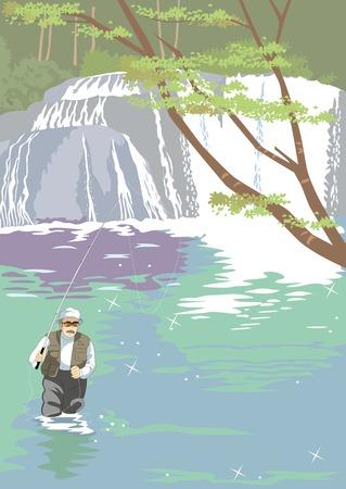 mountain stream: Mountain stream fishing