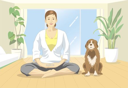 living organisms: Yoga Stock Photo
