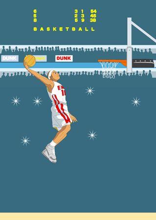 jump shot: Slam-dunk