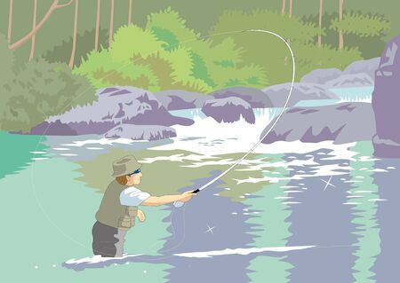 asian lifestyle: Fly-fishing