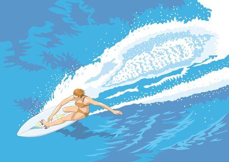 spindrift: Surfing Stock Photo