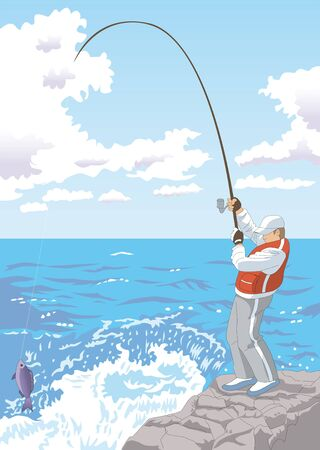 fishing area: Catch Stock Photo