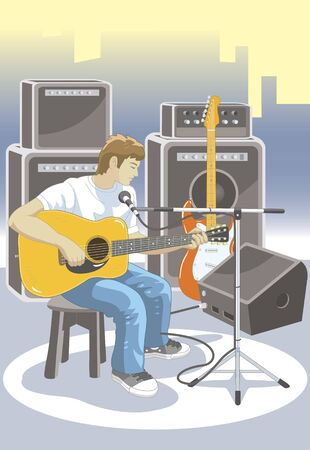 guitar amplifier: Onstage Stock Photo