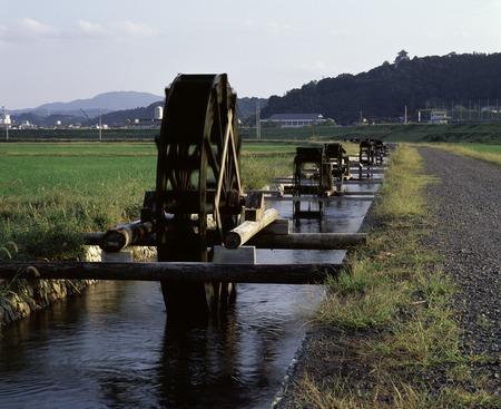 waterwheel: Waterwheel of four Ka-mura groove