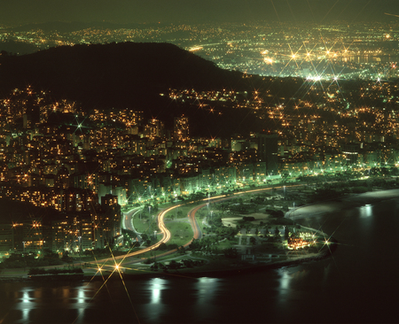 azucar: Rio city night view Stock Photo