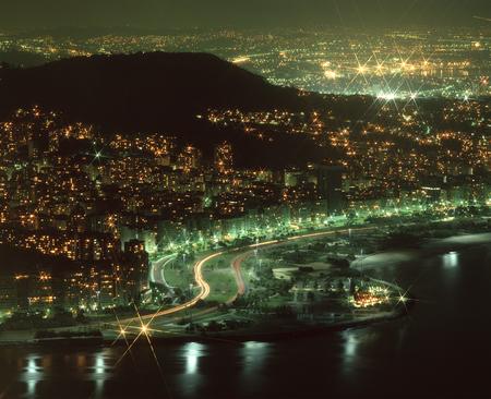 Rio city night view Stock Photo
