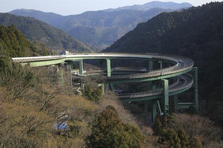 schleife: Nanadaru loop bridge Lizenzfreie Bilder