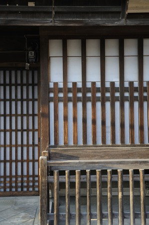 retro: Old house in Japan Stock Photo