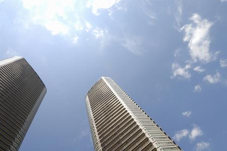 空やオフィスビル 写真素材
