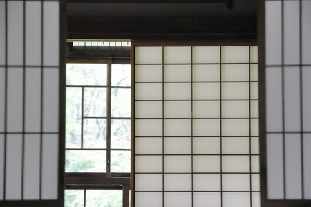paper screens: Japan and between the paper screens and glass doors