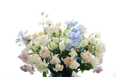 flower arrangements: Flower arrangements of roses and Delfini