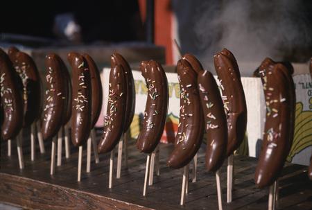 チョコレート バナナを開港祭 写真素材