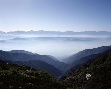 i hope: I hope Yatsugatake from the central Alps Stock Photo