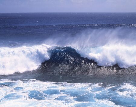 ocean and sea: White-crested waves Stock Photo